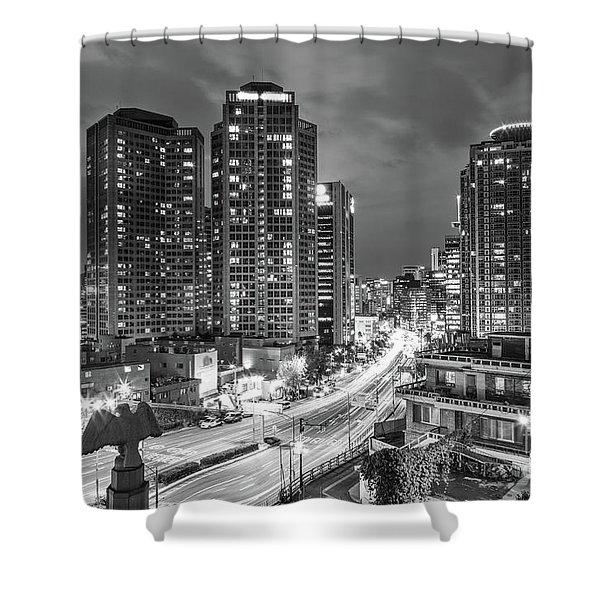Seoul Night Rush Shower Curtain