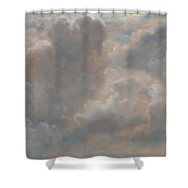 Title Cloud Study Shower Curtain