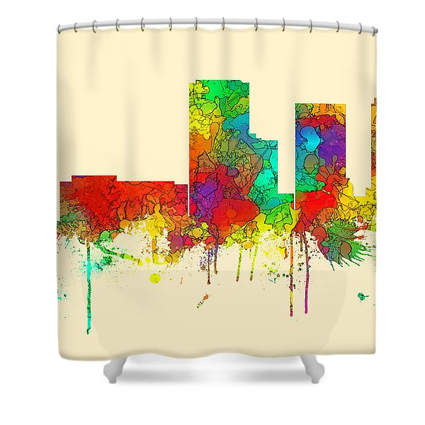 Tulsa Oklahoma Skyline Shower Curtain