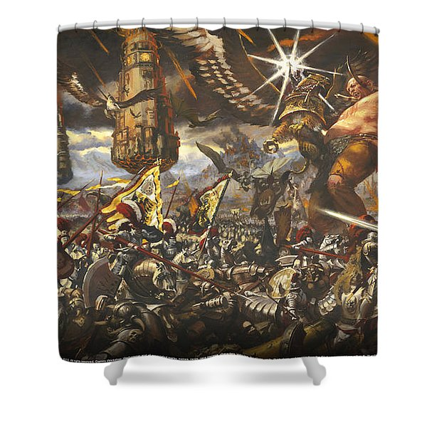 Warhammer Shower Curtain