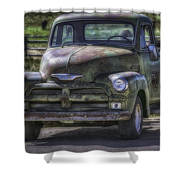 54 Chevy 3600 Stepside Shower Curtain
