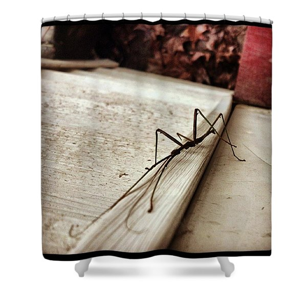 Stick Bug Shower Curtain