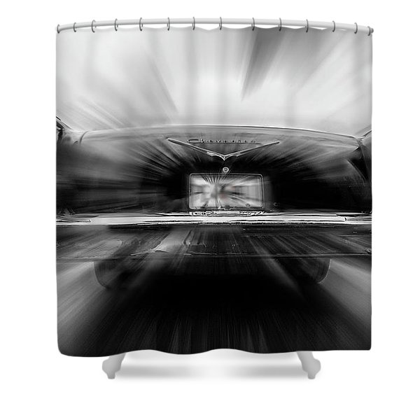 57' Taillights Shower Curtain