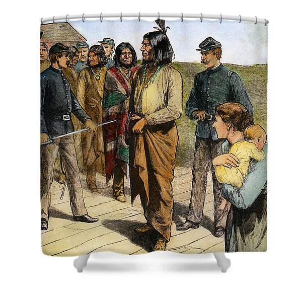 Geronimo 1829-1909.  To License For Professional Use Visit Granger.com Shower Curtain