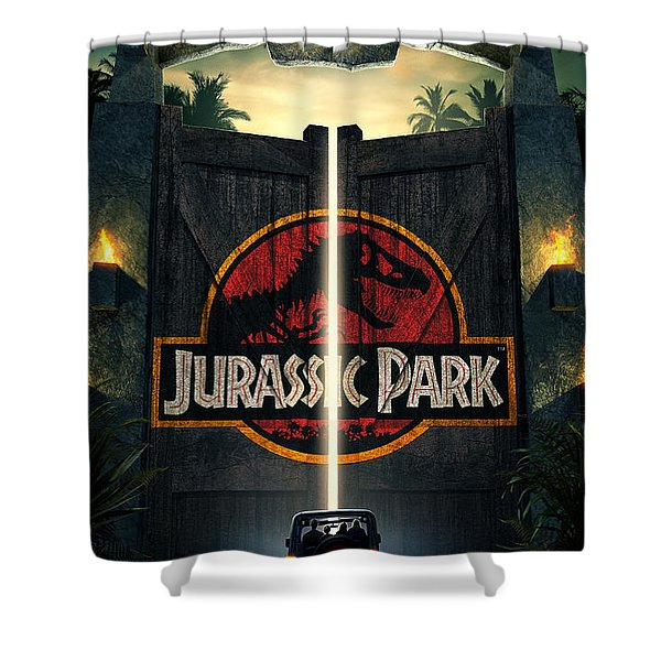 Jurassic Park 1995  Shower Curtain