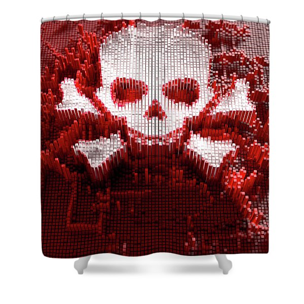 Skull And Cross Bones Cloner Shower Curtain