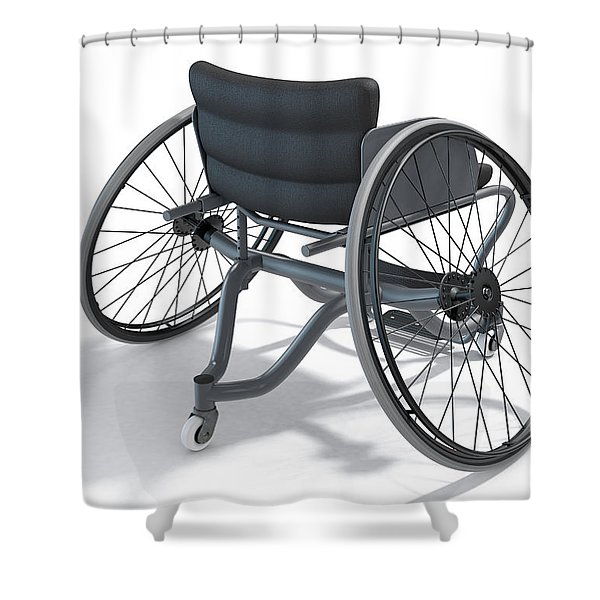 Sports Wheelchair Shower Curtain