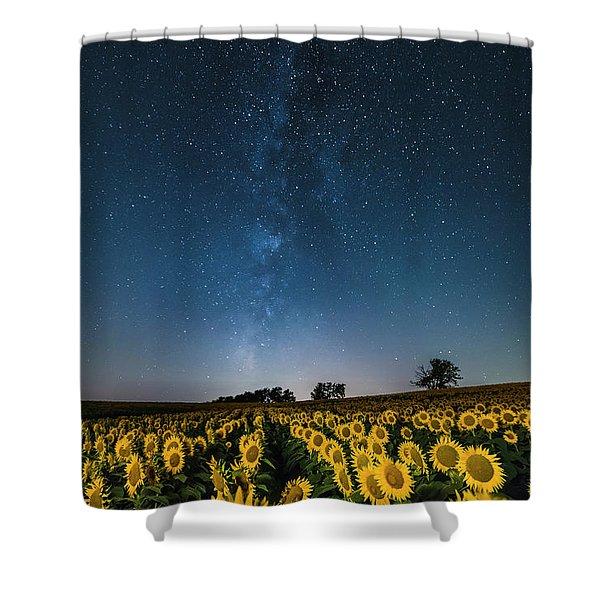 Sunflower Galaxy Shower Curtain