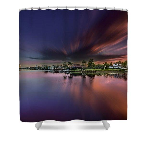 Sunrise At Naples, Florida Shower Curtain