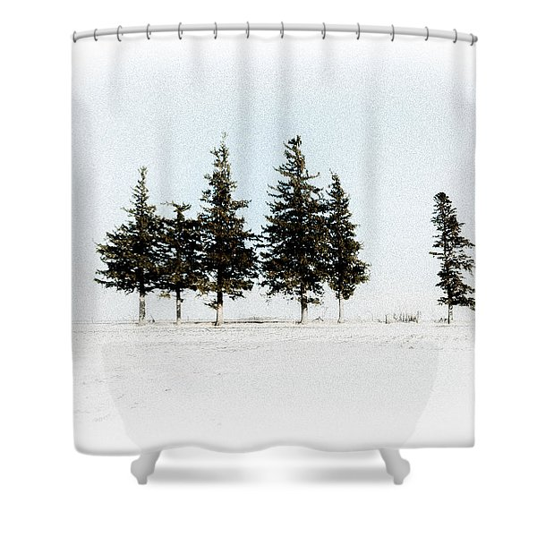 6 Trees Shower Curtain