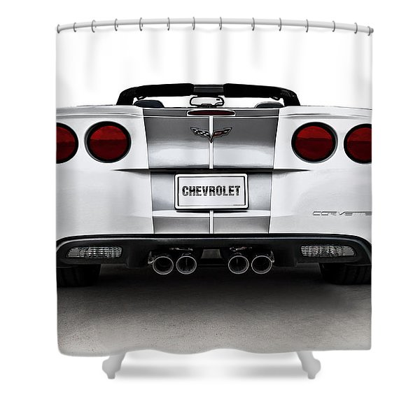 60th Anniversary Corvette Shower Curtain