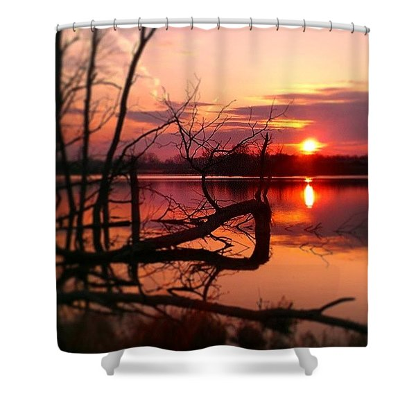 Painted On The Canvas Of The Sky Shower Curtain