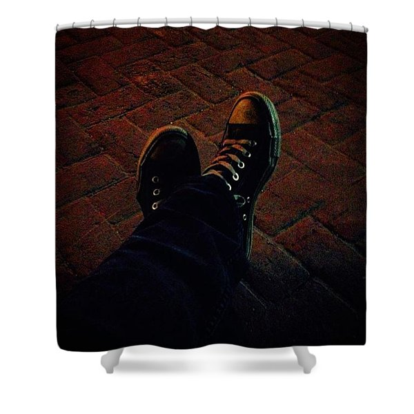 Red Brick Relax Shower Curtain
