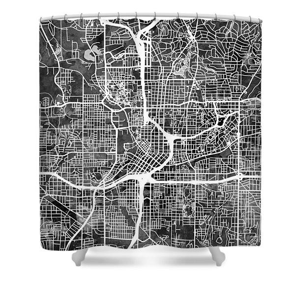 Atlanta Georgia City Map Shower Curtain