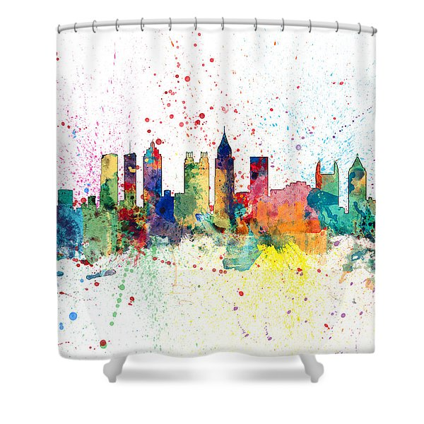 Atlanta Georgia Skyline Shower Curtain