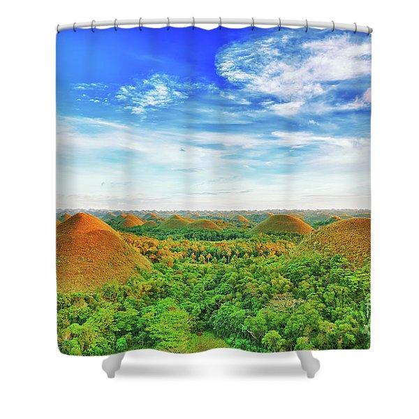 Chocolate Hills Shower Curtain