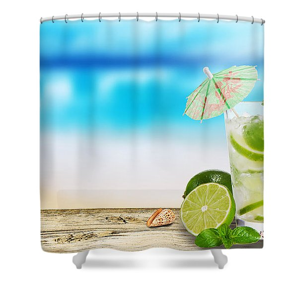 Cocktail Shower Curtain