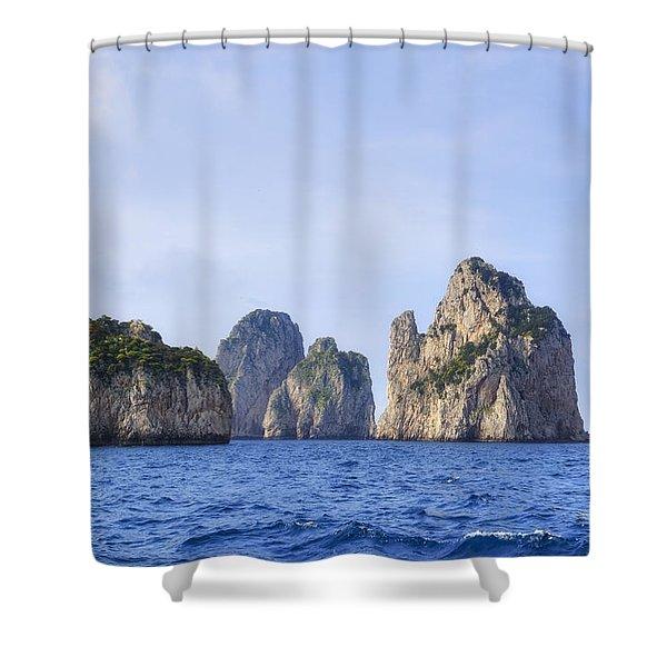 Faraglioni - Capri Shower Curtain