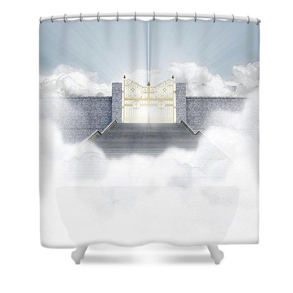 Heavens Gates Shower Curtain