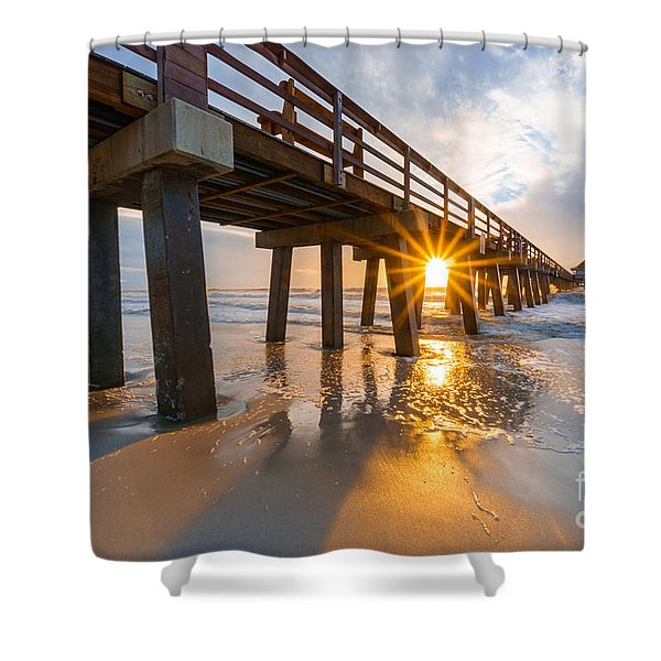 Sunset Naples Pier, Florida Shower Curtain