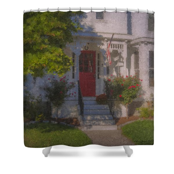 7 Williams Street Shower Curtain