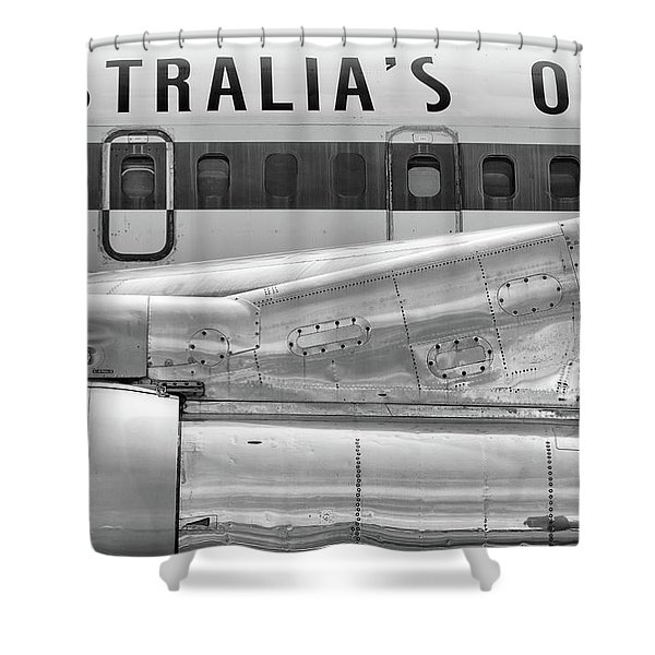 707 Nacelle And Fuselage Shower Curtain