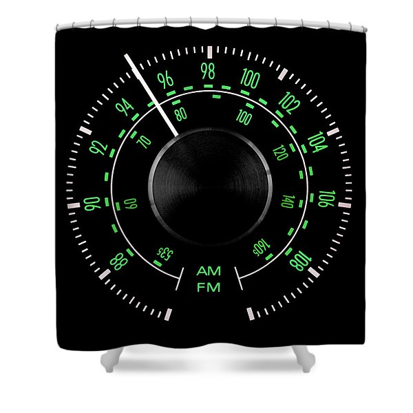 70s Fm Tuner Dial Shower Curtain