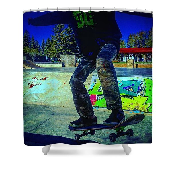 The Shred Kid Shower Curtain