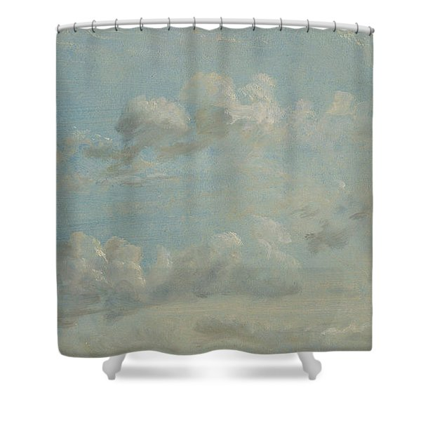 British Title Cloud Study Shower Curtain