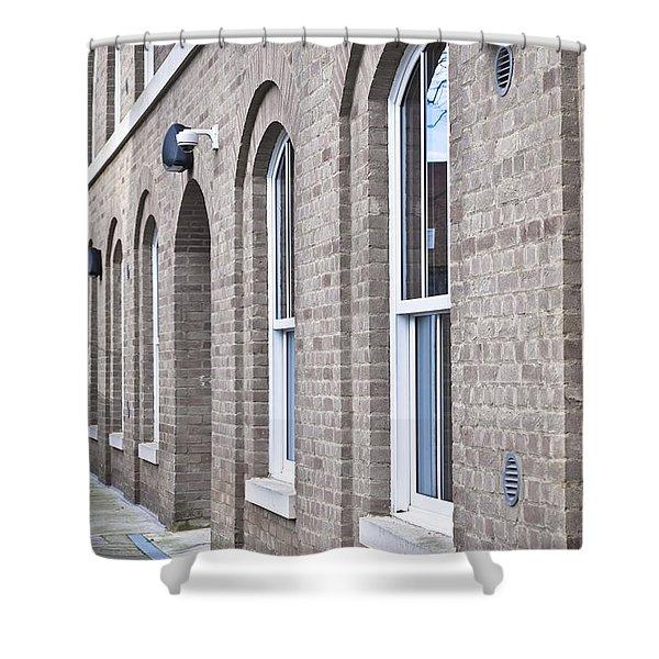 Building Exterior Shower Curtain
