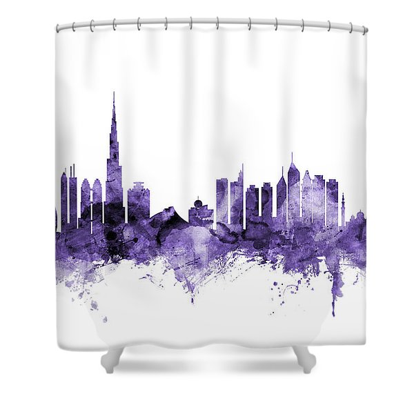 Dubai Skyline Shower Curtain