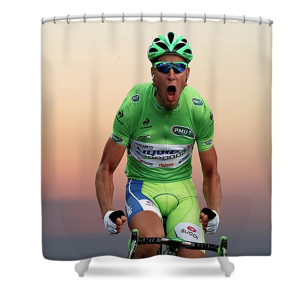 Peter Sagan 8 Shower Curtain
