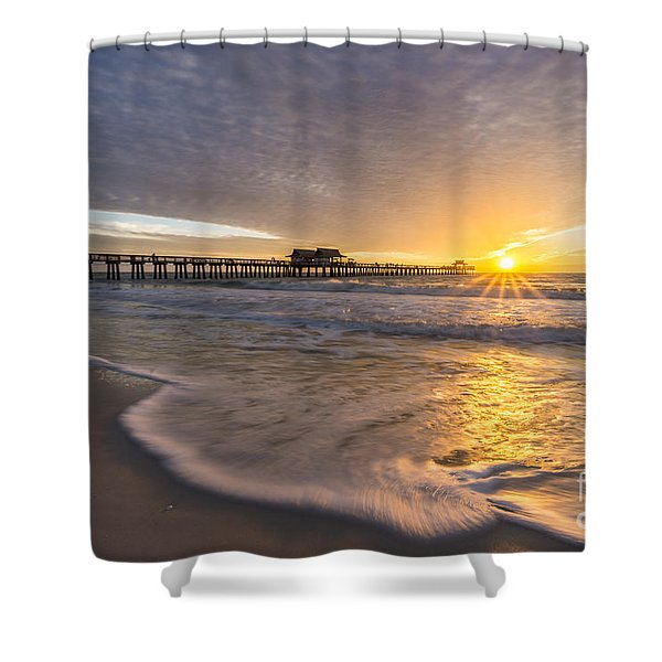 Sunset Naples Pier Florida Shower Curtain