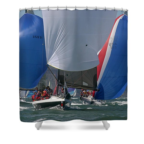 Bay Colors Shower Curtain