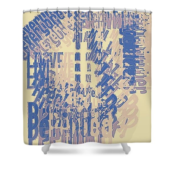 Life Matters Graphic Print Shower Curtain