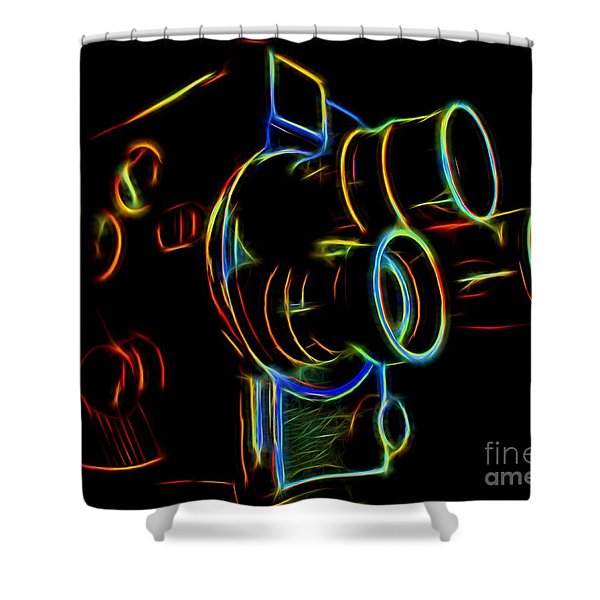 8mm In Neon Shower Curtain