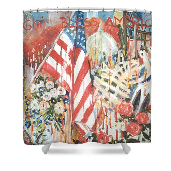 9-11 Attack Shower Curtain