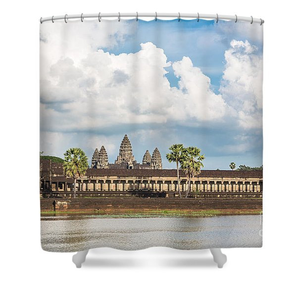 Angkor Wat In Cambodia Shower Curtain