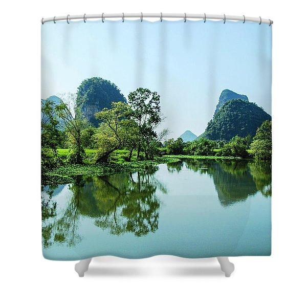 Karst Rural Scenery Shower Curtain