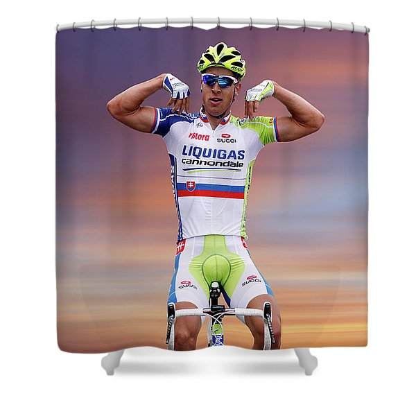 Peter Sagan 1 Shower Curtain