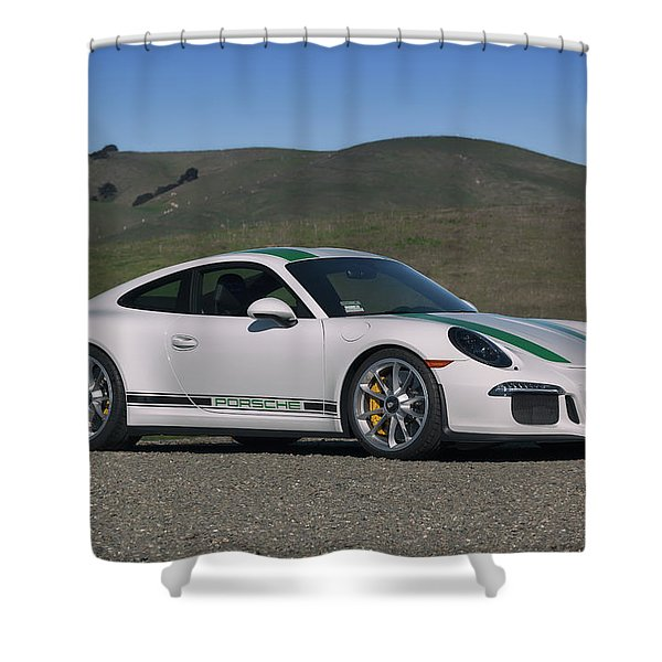 #porsche #911r #print Shower Curtain