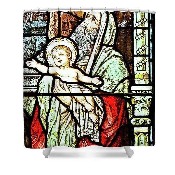 Saint Anne's Windows Shower Curtain
