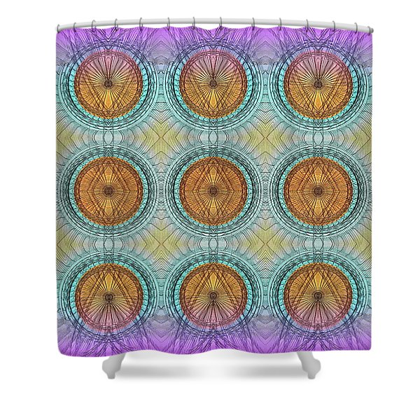 9 Shields For Warrior Or Hunter Shower Curtain