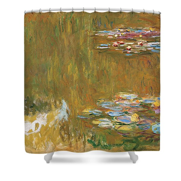 The Water-lily Pond Shower Curtain