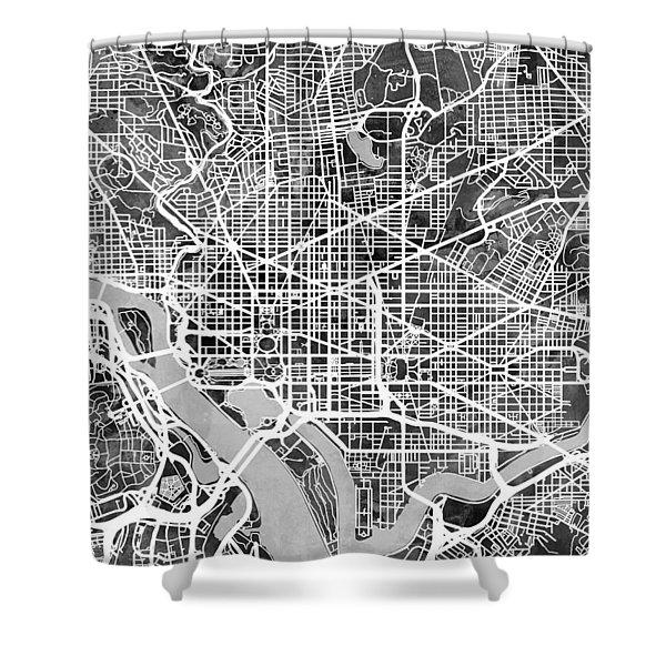 Washington Dc Street Map Shower Curtain