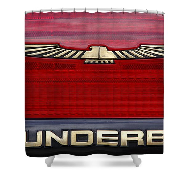 90s Thunderbird Shower Curtain