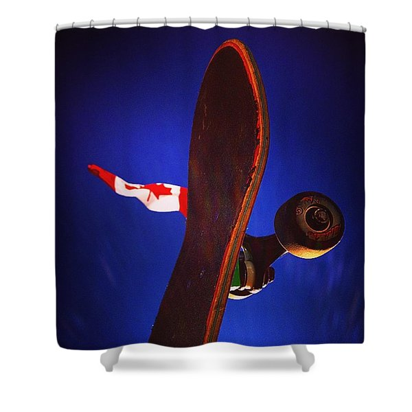 Canadian Skater Shower Curtain
