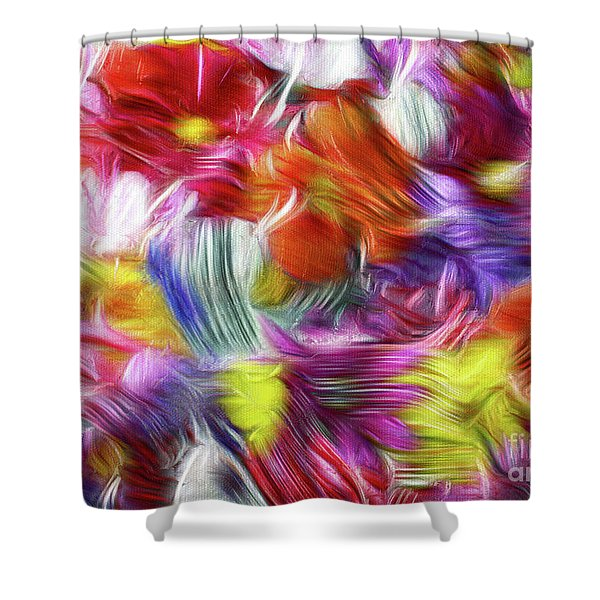 9a Abstract Expressionism Digital Painting Shower Curtain