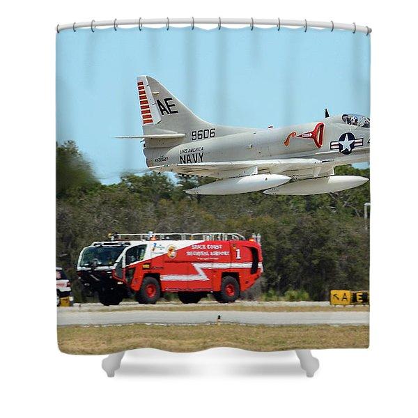 A-4 / Firetruck Shower Curtain