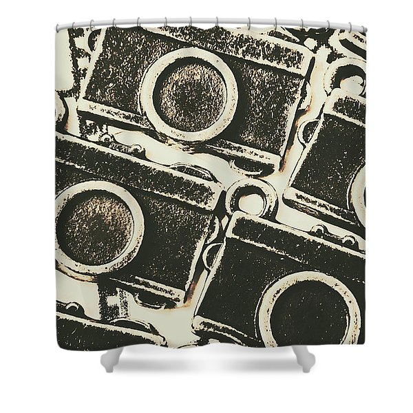 A Background In Photography Shower Curtain
